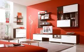 interior home shelves imanada orange wall paint schemes with