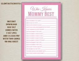 who knows baby shower unique and easy printable baby shower baby shower