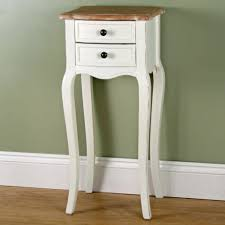 beige shabby chic style tall bedside table oscar u0027s boutique ltd