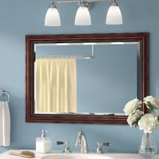 cherry bathroom mirror cherry mirrors you ll love wayfair