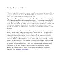 business proposal letter to client creating a business proposal