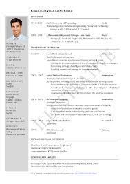 cover letter standard resume format template standard resume