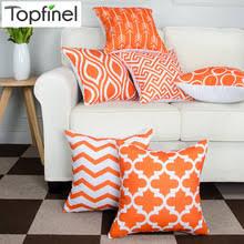 Armchair Cushion Covers Online Get Cheap Orange Decorative Pillow Aliexpress Com