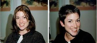 before and after picuters of long to short hair free women s short haircuts in new york city crops for girls