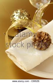 beautiful place setting for christmas stock photo royalty free