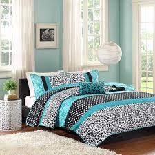 Sheet Sets Twin Xl Teal Blue Black Cheetah Animal Print Teen Bedding Twin Xl