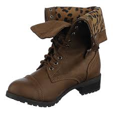 s fold combat boots size 12 shiekh oralee iis brown leopard fold combat boot