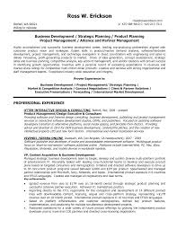 Resume Sample Product Manager by Sample Resume For Business Development Executive Resume Cv Cover