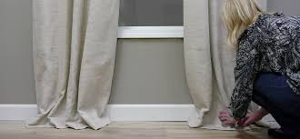 tiny video tips 4 ways to style puddled curtains the finishing