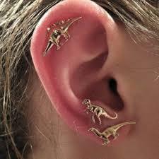 pacman earrings boho rock animal dinosaur metal stud earring stud set