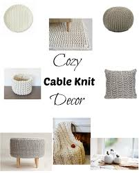 cozy cable knit decor jenn and tonic