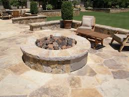 Flagstone Firepit Multiblend Flagstone Built Patio And Pit Outdoor Pits