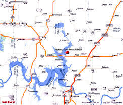 Map Mapquest Lake Texoma Map To Newberry Creek Resort And Marina