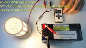 wireless led light with switch 12vmonster 5v 24v wireless led strobe flash power on off switch