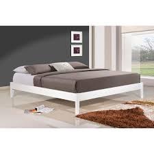 bed queen white platform bed lvvbestshop com