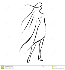 black line woman in wind royalty free stock image image 21206556