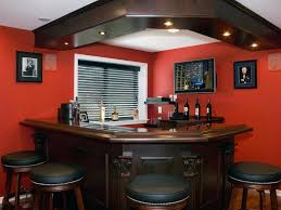 interior curved small basement bar design ideas with black iron