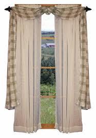 Primitive Curtain Tie Backs Country Window Treatment Primitive Country Curtains Rustic