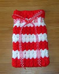 crochet christmas gift bags tutorial to follow crochet ideas