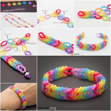 bead bracelet make necklace images How to diy rainbow color woven beaded bracelet jpg