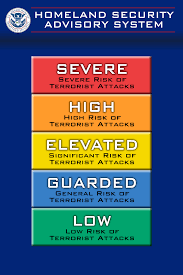 Color Meanings Chart by Homeland Secusrity Dhs To Create A New U0027threat Index Chart U0027 To