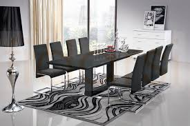 Dining Room Tables  Seater Dining Room Set  Seater Dining Table - Black dining table for 10