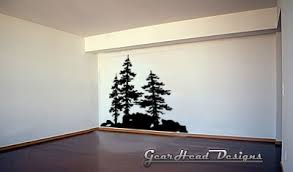 wooden pine tree wall pine tree vinyl wall decal pine trees removable wall decal