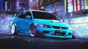 blue mitsubishi lancer evo 9 wallpaper hd 72 images