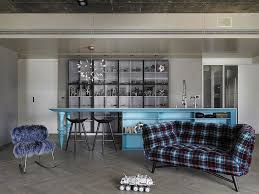 blue livingroom black grey and blue living room filled with roche bobois and