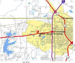 map of hattiesburg ms hattiesburg ms zip code map zip code map