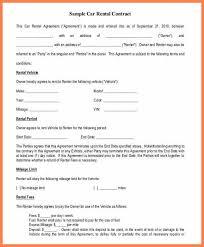 doc 600730 sample car rental agreement u2013 13 car rental agreement