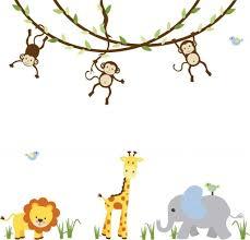 Bedroom Jungle Wall Stickers Kids Room Kids Bedroom Glamorous Kids Room Design Ideas
