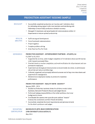 audition resume format production assistant resume template free resume example and production assistant resume template