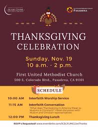 thanksgiving celebration w united methodist church pasadena