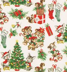 christmas wrap vintage christmas wrap critters david flickr