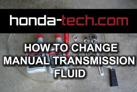 honda accord how to replace manual transmission fluid youtube