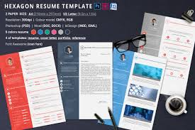 Indesign Resume Template Resume Template Hexagon By Oloreon Thehungryjpeg Com