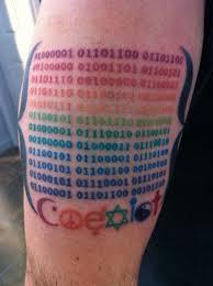 binary arm tatto color tattoo arm tattoos best tats