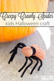 creepy crawly spider kids halloween craft super easy
