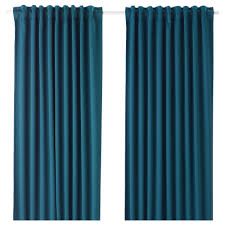 Teal Curtains Majgull Blackout Curtains 1 Pair Ikea