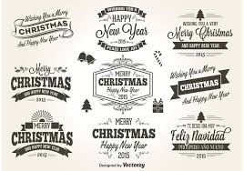retro style christmas labels download free vector art stock