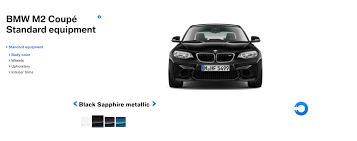 bmw x6 color options see the bmw m2 in the four different colors