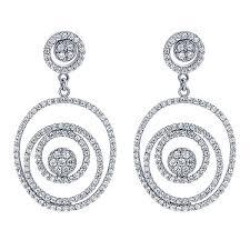 drop diamond earrings 14k white gold lusso drop earrings eg9789w44jj