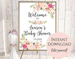 baby shower sign baby shower welcome sign etsy