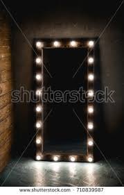 mirror with light bulbs long dressing mirror light bulbs stands stock photo 100 legal