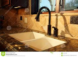 modern kitchen sink and fixtures royalty free stock images image