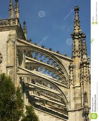 pinnacles and flying buttresses stock photo image 134630