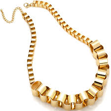 chunky fashion necklace images Large chunky chain link gold fashion costume jewellery necklace jpg