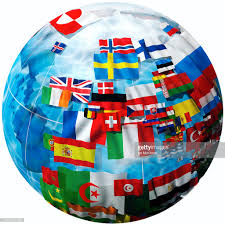 European Flags Images Flags Representing Countries Of Europe On Globe Stock Illustration