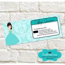 Quinceanera Invitation Cards Newest Quinceanera Invitations Princess Turquoise Invitations